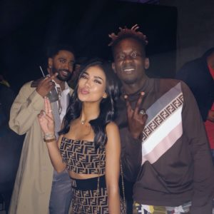 Fendi Gang! Mr Eazi parties with Big Sean, Jhene Aiko & Diplo in London