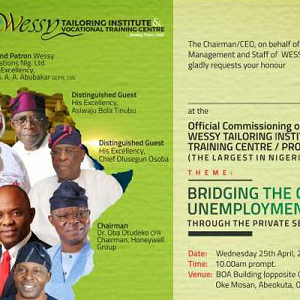 Wessy Tailoring Vocational Institute