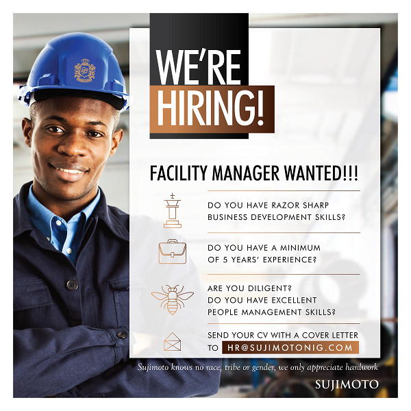 sujimoto hiring facility manager
