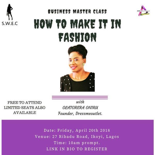 SWEC fashion business masterclass