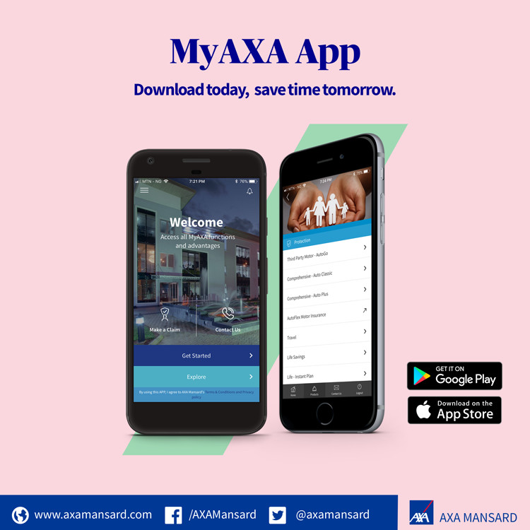 axa mansard insurance launches mobile app to help. Black Bedroom Furniture Sets. Home Design Ideas