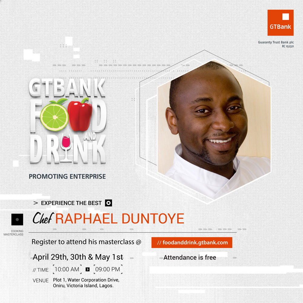 Chef Raphael GTBank Food and Drink Fair