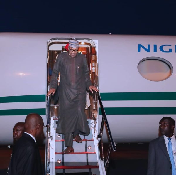 President Buhari returns to Abuja after United Kingdom medical trip