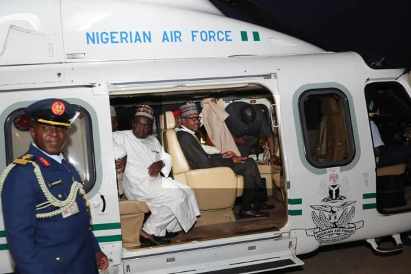President Buhari Arrives Back From London Medical Trip