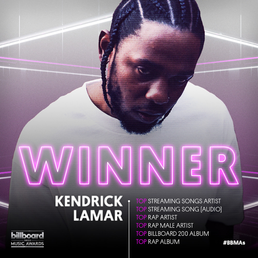 Kendrick Lamar, Drake, Ed Sheeran are early winners for the #BBMAs