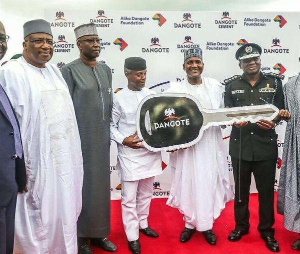 Dangote Foundation donates 150 Vehicles to Nigeria Police | BellaNaija