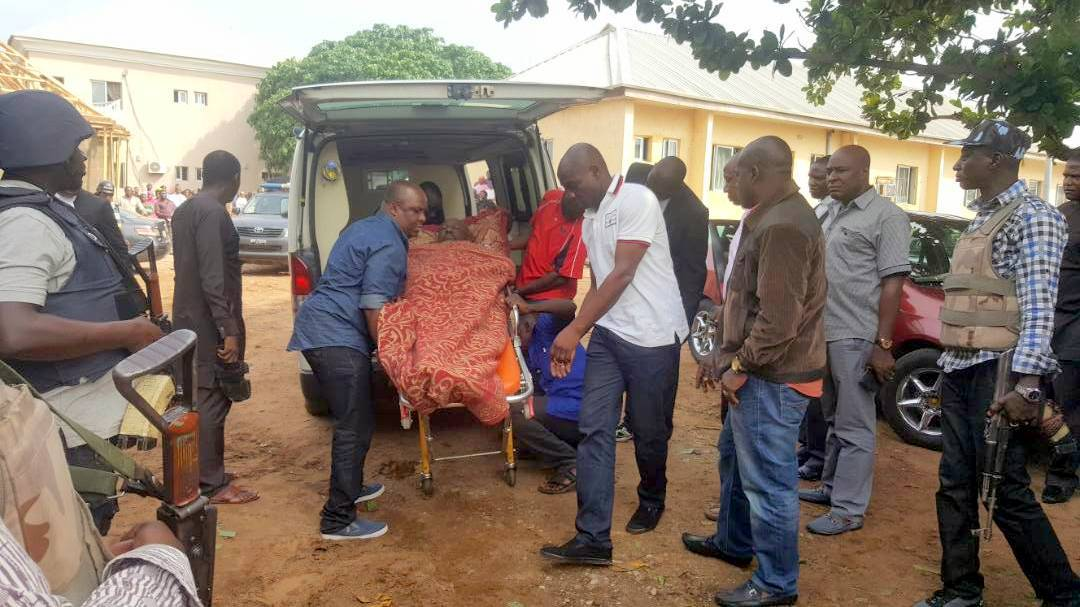 Dino Melaye arrives Lokoja Court on a Stretcher | BellaNaija