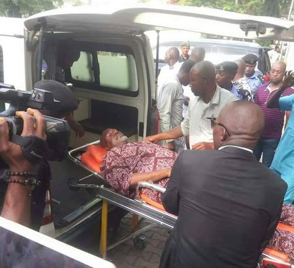 Dino Melaye arrives Court on a Stretcher | BellaNaija