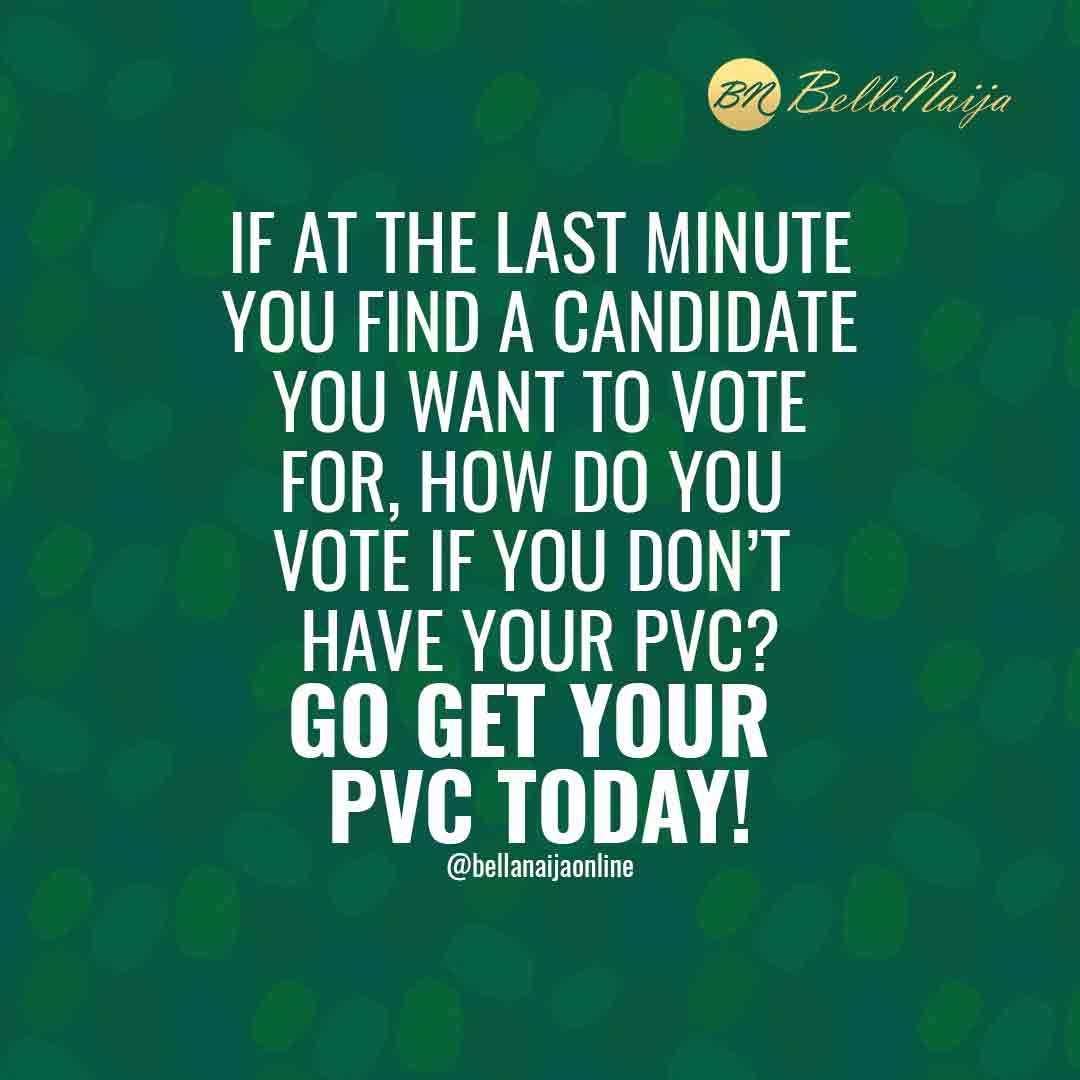 Nigeria is Yours, #GetYourPVC to Have a Say in Her Future! Got It?