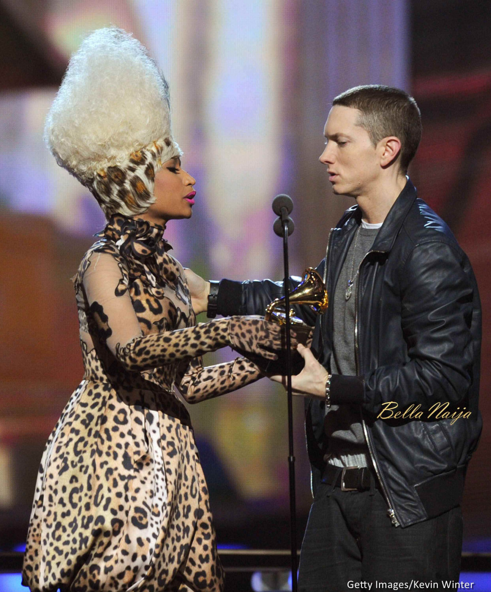 Nicki Minaj Alludes to Dating Eminem