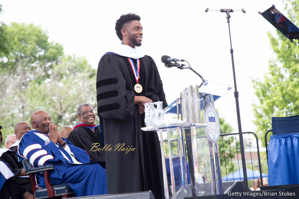 'Black Panther' Star Chadwick Boseman Gives