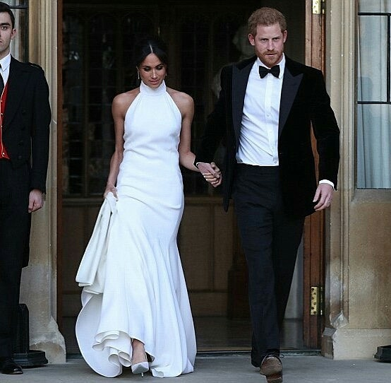 Meghan Markle and Prince Harry Reception Ceremony Outfits