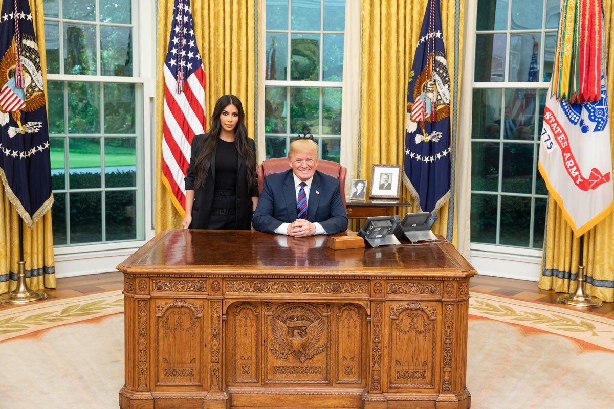Donald Trump's meeting with Kim Kardashian at the White House