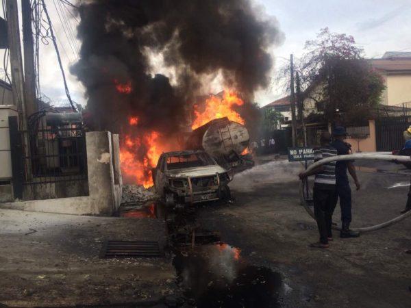 Diesel Tanker explodes at Victoria Island | BellaNaija