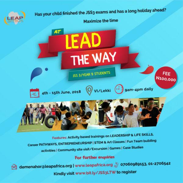 LEAP JSS3 Lead the Way Programme