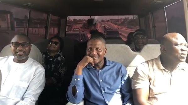 Billionaires Otedola & Dangote take Bus Ride with Ambode to inspect State Projects | BellaNaija