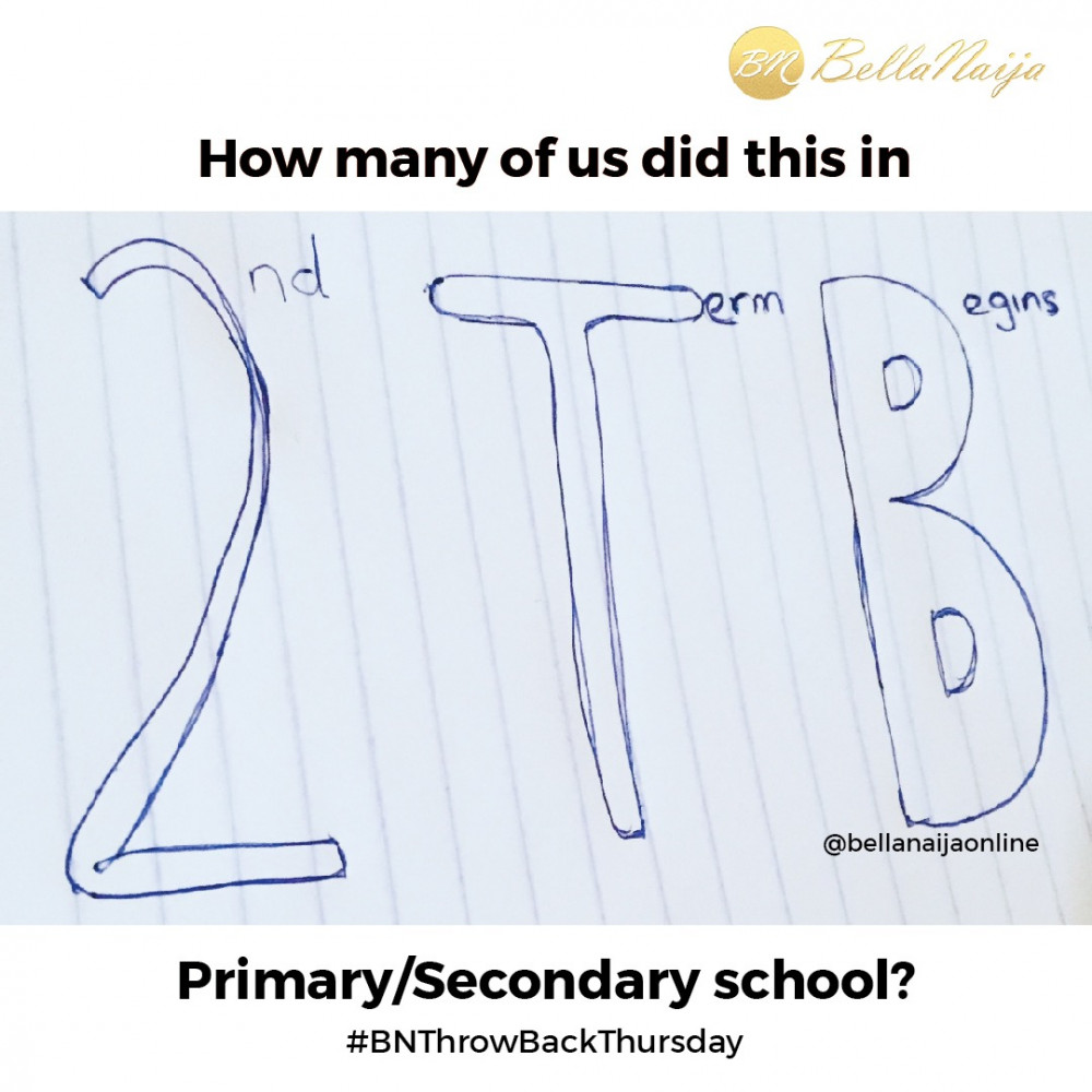 Throwback Thursday: Raise your Hand if you Did This in School ??