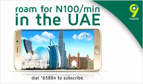 9Mobile UAE roaming