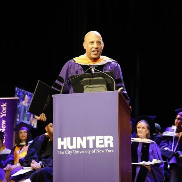 Vin Diesel honored with PhD 30 Years after Dropping out of College | BellaNaija