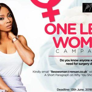 toke makinwa 1lesswoman fibroids campaign