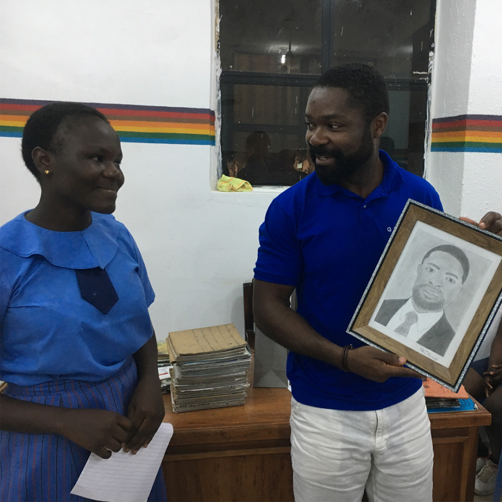 "Davido Oyelowo visits ""Scholarship Girls"" in Nigeria"