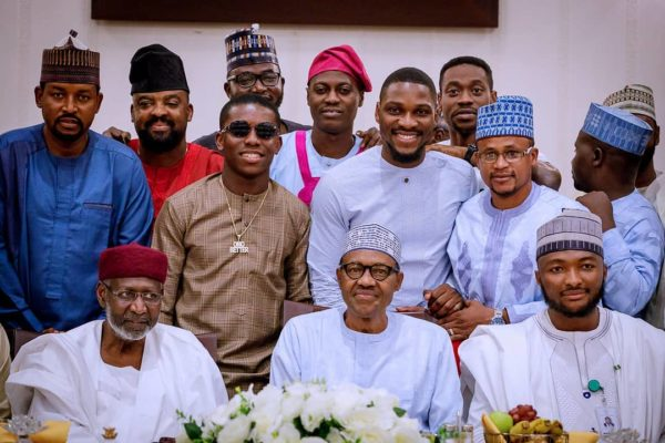President Buhari breaks fast with Small Doctor, Sound Sultan, #BBNaija's Tobi | BellaNaija