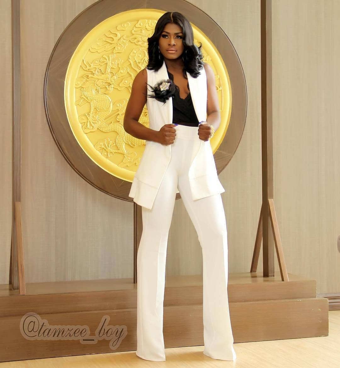 Work It Bbnaija S Alex Is A Vision In Black Amp White