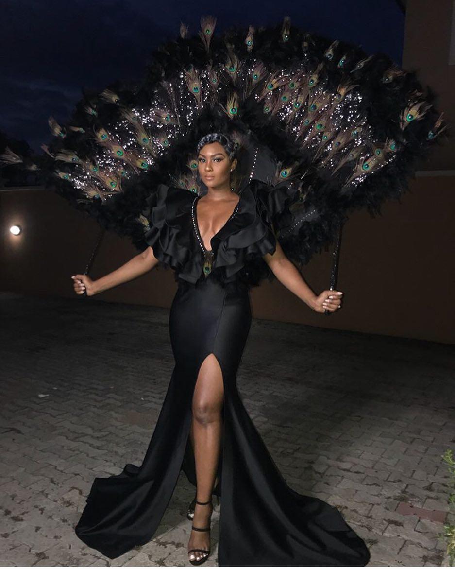 34574024_2056489857907209_740173064402108416_n Toke Makinwa, Osas Ighodaro Ajibade, Ini Dima-Okojie at the MET Gala themed #Oceans8 Premiere Events Fashion