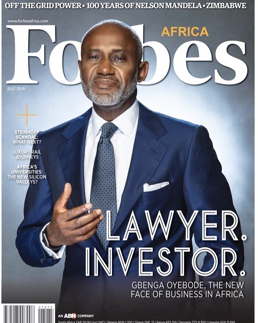 """""""The New Face of Business in Africa""""! Gbenga Oyebode covers Forbes Africa's July Edition"""