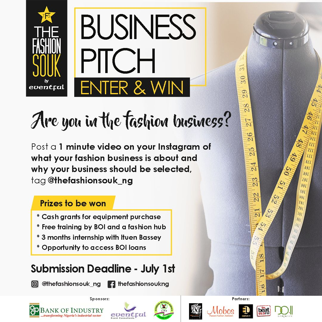 Fashion Designers Come Pitch Your Business At The Fashion Souk By Eventful Sunday July 8 Bellanaija