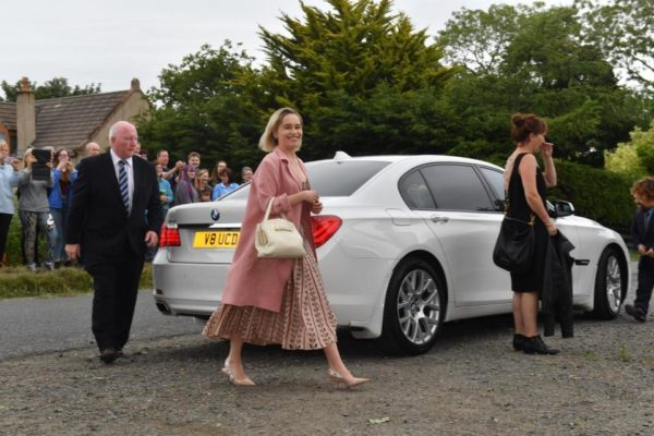 """Game of Thrones"" Peter Dinklage,  Maisie Williams, Sophie Turner, and Emilia Clarke attend costars Kit Harington & Rose Leslie Wedding"