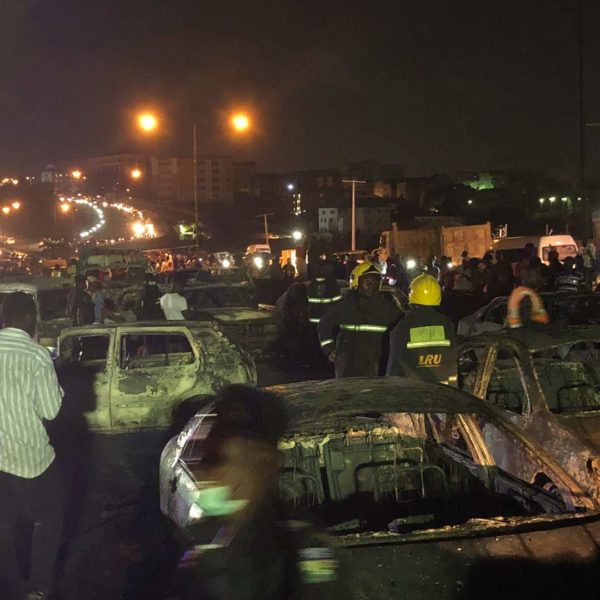 Nine killed, 53 vehicles burnt as oil tanker catches fire in Lagos