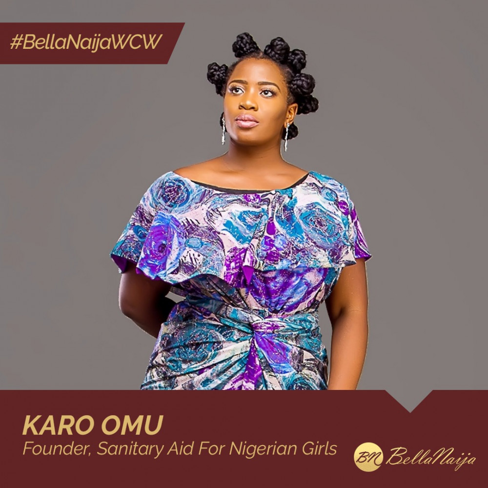 #BellaNaijaWCW: How Karo Omu a.k.a Period Partner is bringing Sanitary Aid for Nigerian Girls