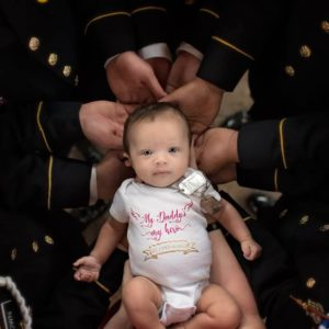 BN Sweet Spot: Fallen Soldier's colleagues Unite for photoshoot with his Baby