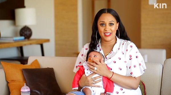 Tia Mowry introduces Baby Cairo to the World | WATCH on BN TV | BellaNaija