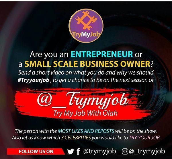 #TryMyJob reality TV show
