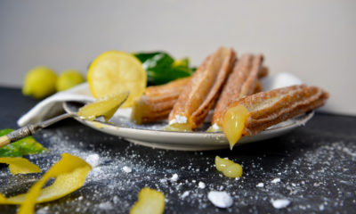 Lemon Churro Bites and Lemon Glaze - The Perfect Movie Night Snack!