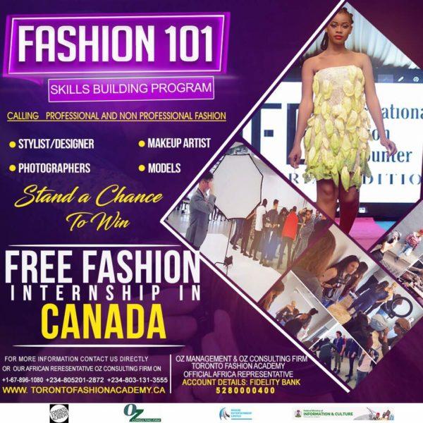 Fashion Design Makeup Modelling More Trainings As Toronto Fashion Academy Brings Back High Fashion 101 Bellanaija