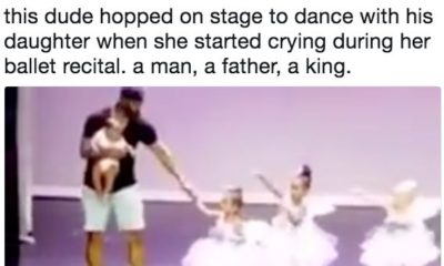 BN Sweet Spot: This Supportive Dad joins Daughter on Stage after she Starts Crying