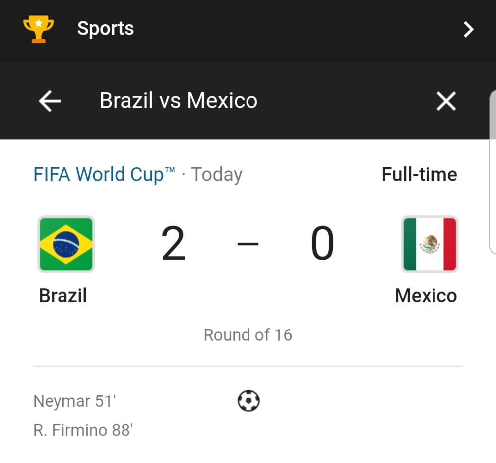worldcup 2018 brazil defeats mexico 2 0 advances to