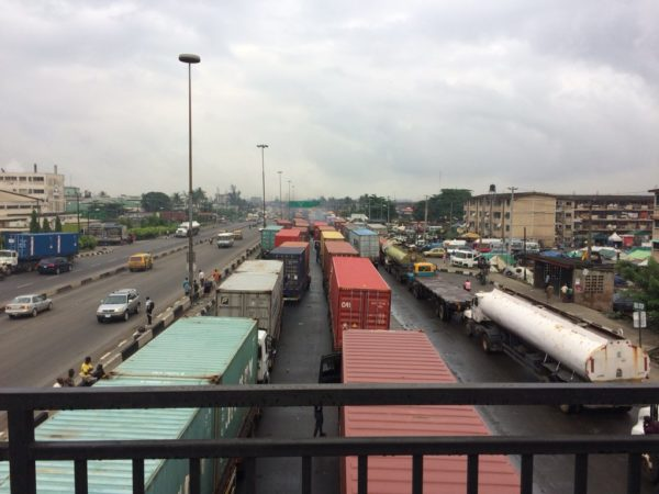 Lagosians lament after Trucks take over Apapa-Oshodi Expressway | BellaNaija
