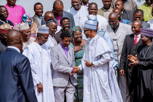 """Buhari tells CAN he remains committed to """"ensure the protection of lives and property""""   BellaNaija"""