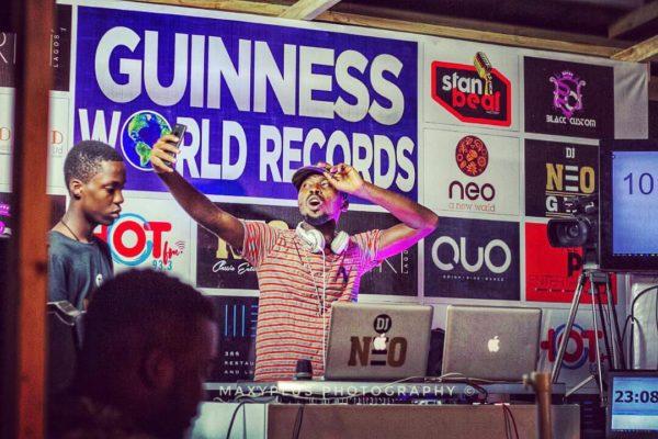 He's done it! DJ Neo breaks and sets the Guinness World Record for Longest Marathon Club DJing | BellaNaija