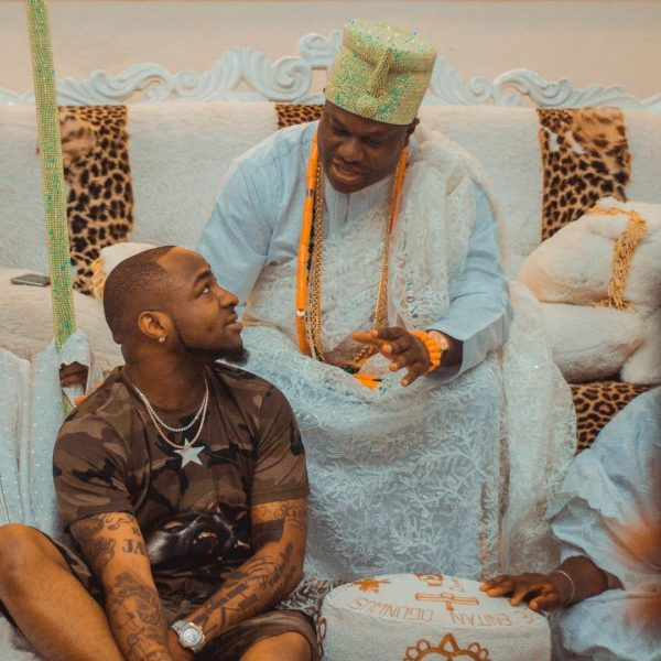 Davido meets with Ooni of Ife | BellaNaija