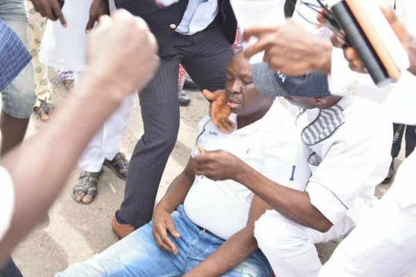Fayose reportedly Teargassed by Policemen | BellaNaija