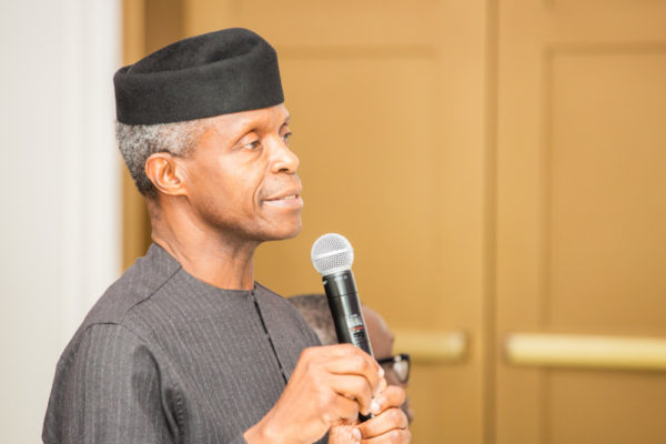 Osinbajo throws Sub at Melaye & Adeleke at Independence Day Dinner | BellaNaija
