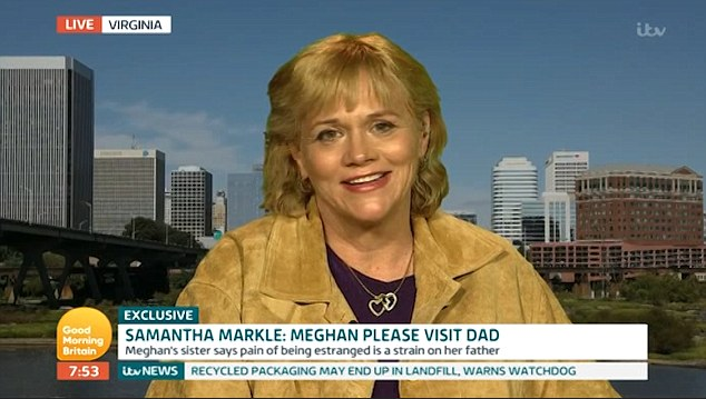 Samantha Markle claims 'Diana would be ASHAMED' of new daughter-in-law Meghan