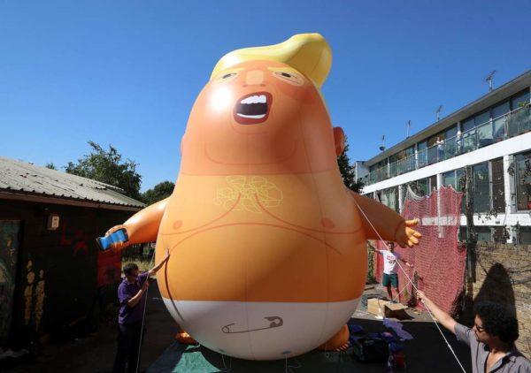 Giant 'Trump Baby' Balloon set to be Flown in London during Trump's Visit   BellaNaija