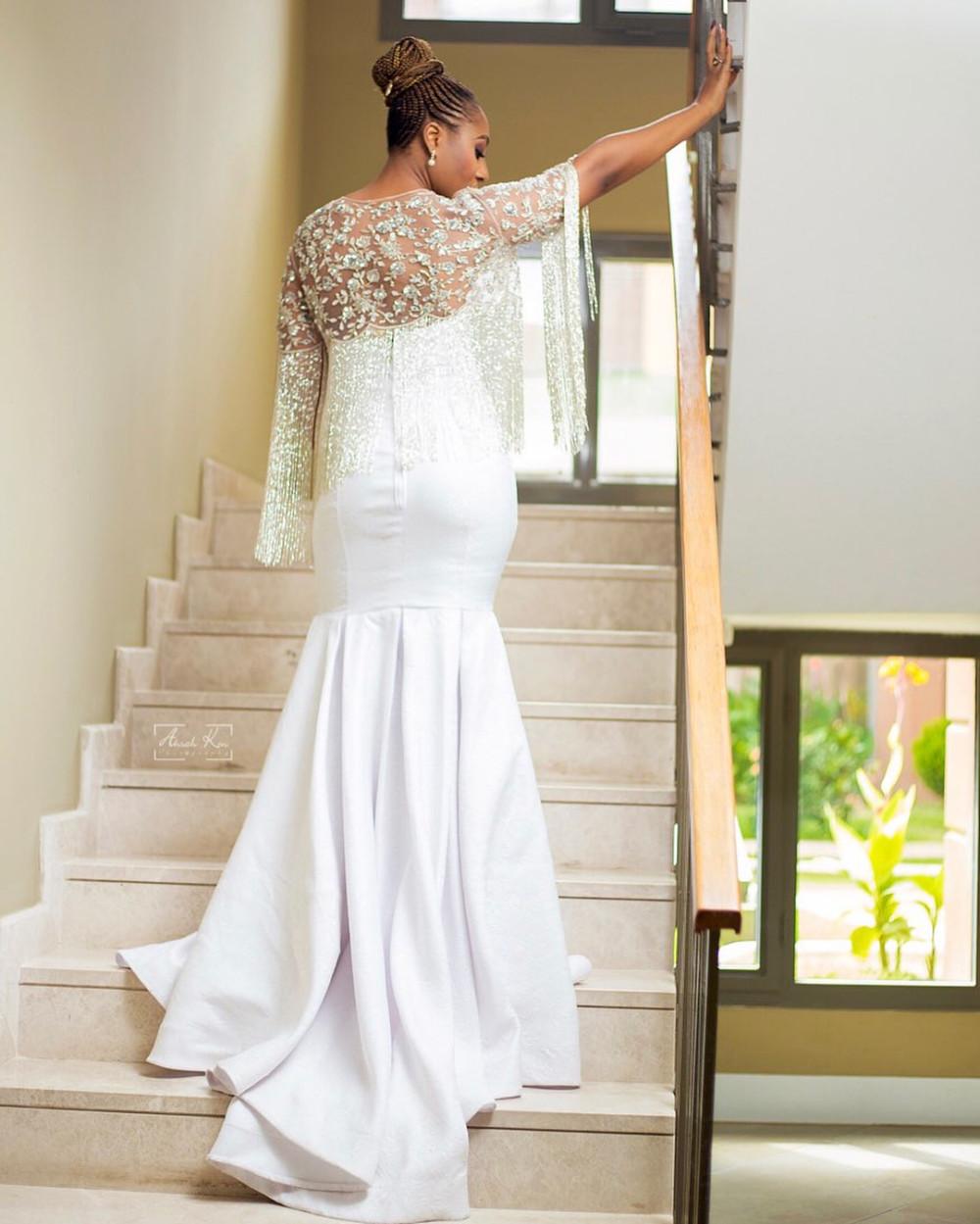 Dakore Akande dazzles in white