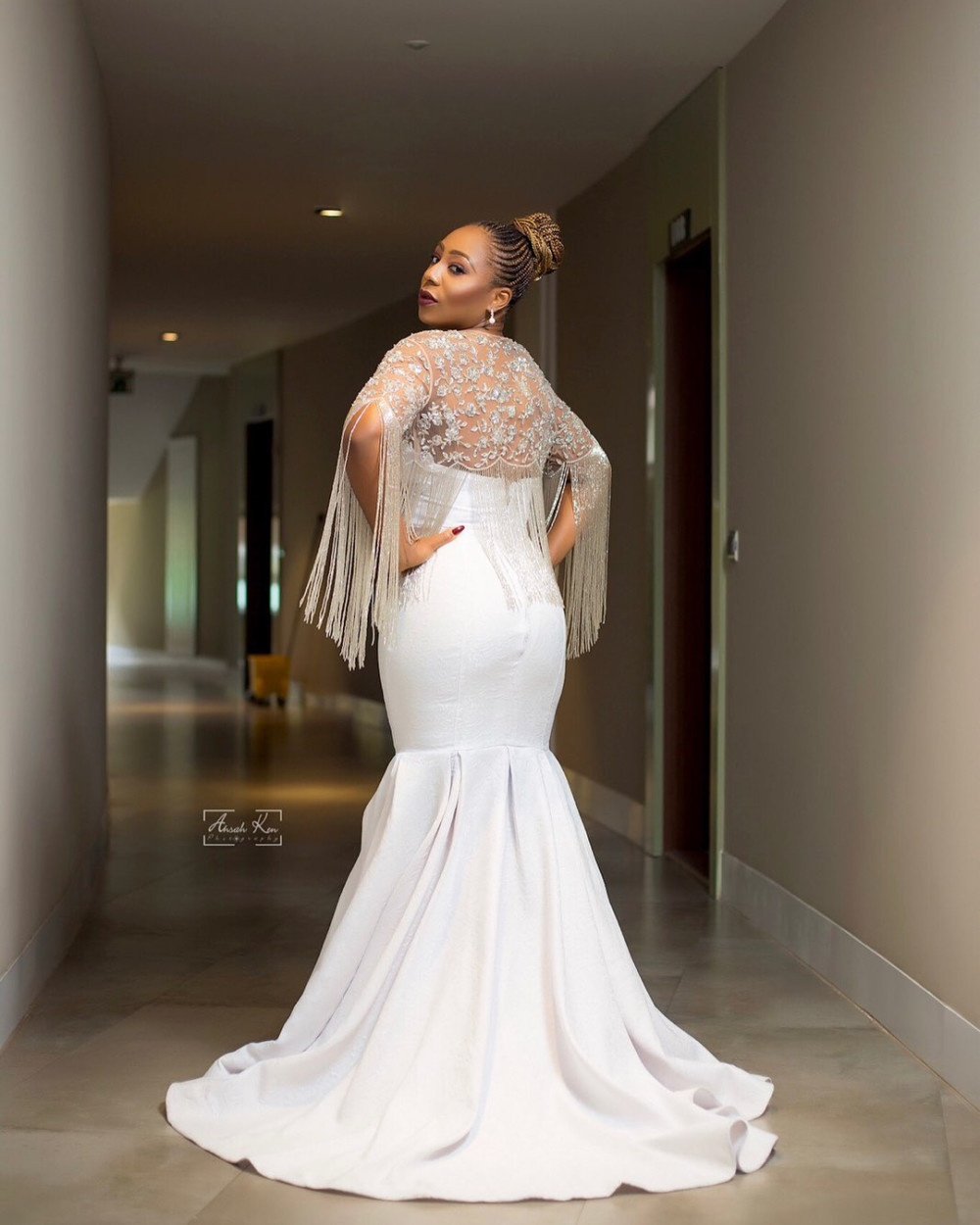 Dakore Akande dazzles in white